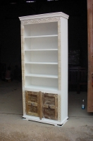 INDIAN MANGO WOOD PAINTED BOOKCASE