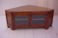 SHEESHAM WOOD CORNER TV STAND